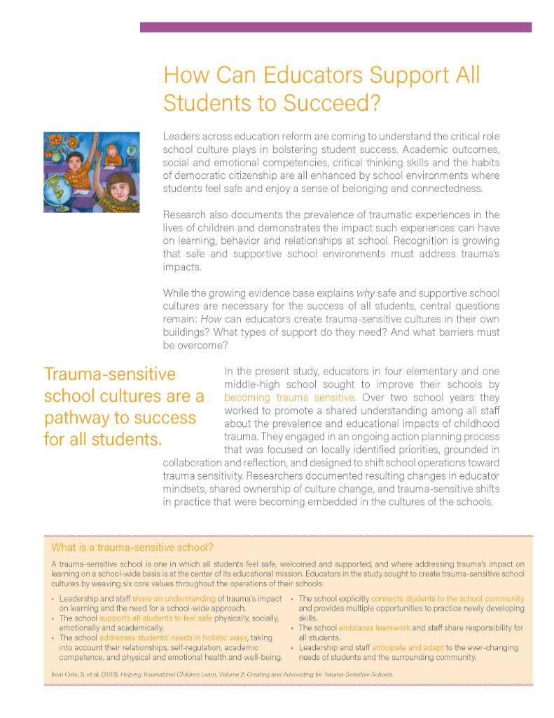 Video On Impacts Of Trauma On Learning >> Trauma Sensitive Schools Research Study Released Trauma Sensitive