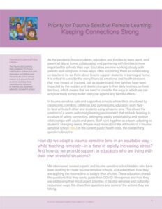 Trauma-Sensitive Remote Learning - Keeping Connections Strong