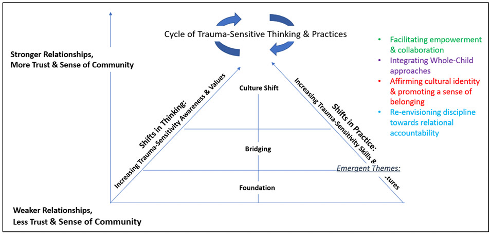 Synthesis of transformation and cultural shifts reported by educators